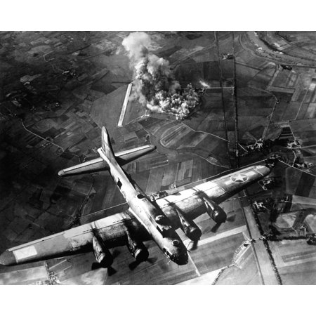 LAMINATED POSTER English Captions in published books: CLASSIC precision bombing featured this attack by 100 B-17s on Poster Print 24 x - Caption This
