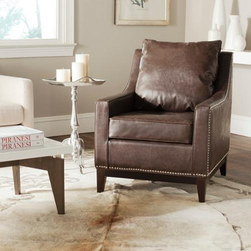 Safavieh Colton Antique Brown Club Chair