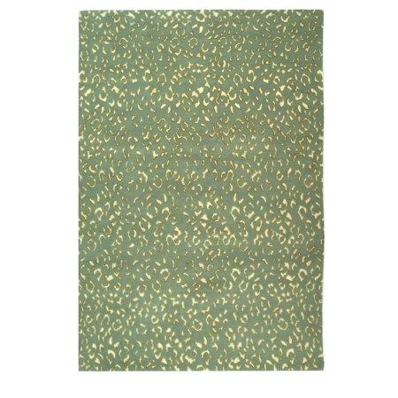 Hanro Woolen Silk - Safavieh  Hand-knotted Suzanne Kasler Aqua/ Cream Wool/ Silk Rug - 6' x 9'