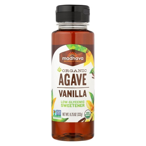 Madhava Honey Organic Agave Nectar - Vanilla - pack of 6 - 11.75 Fl Oz.