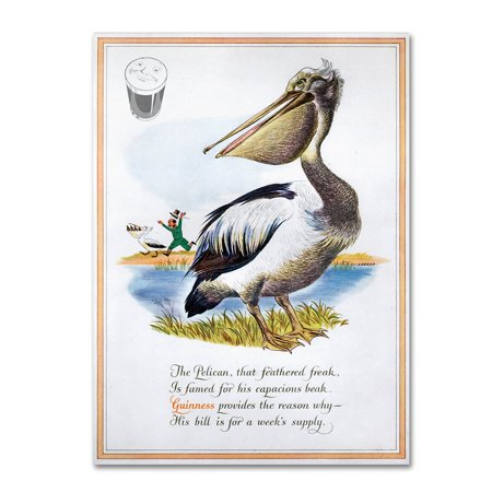 """Trademark Fine Art """"Guinness Pelican"""" Canvas Art by Guinness Brewery"""