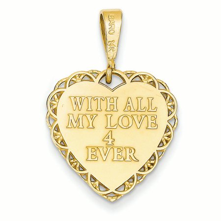 14K Yellow Gold for My Dear Wife Charm - image 3 of 4