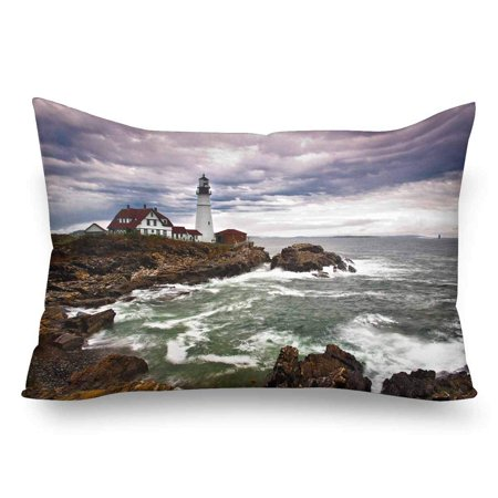 GCKG Portland Head Lighthouse Atlantic Ocean Waves Rocky Coast Pillow Cases Pillowcase 20x30 inches - image 4 de 4