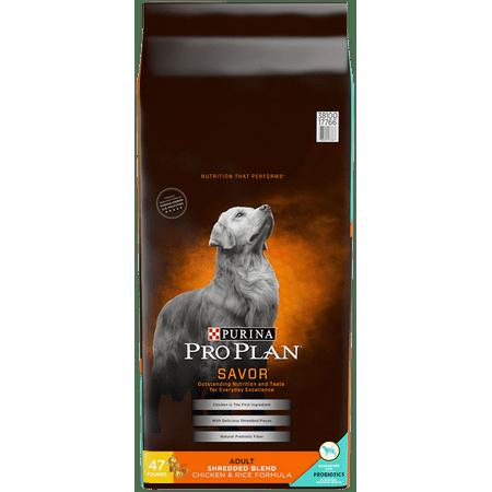 Purina Pro Plan SAVOR Shredded Blend Chicken & Rice Formula Adult Dry Dog Food - 47 lb. Bag