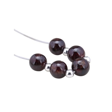 Garnet Bead Necklace - Gorgeous 18