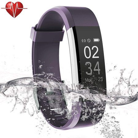 Fitness Tracker with Heart Rate Monitor, IP67 Waterproof Fitness Watch Activity Tracker w/ 14 Sports Mode Step Calorie Counter Sleep Monitor Pedometer for Women Men - image 7 de 7