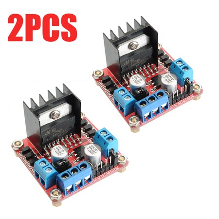 2PCS L298N Dual H Bridge DC Stepper SHIELD PER ARDUINO ARM PIC AVR DSP 10A Motor Drive Controller Module For (Best Arduino Motor Shield)