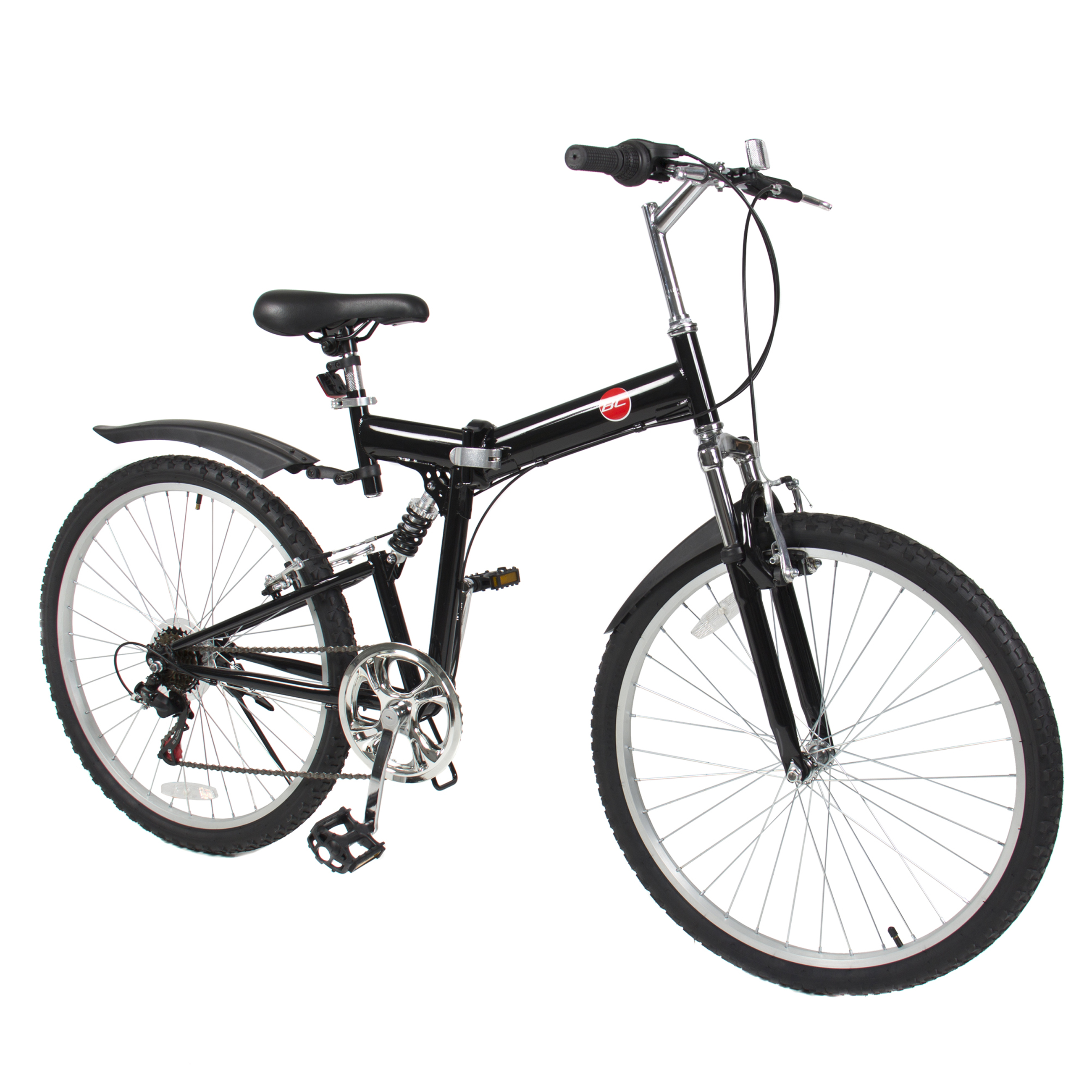 "BC DECKER 26"" Folding Mountain Bicycle 6 Speed Shimano Fo..."