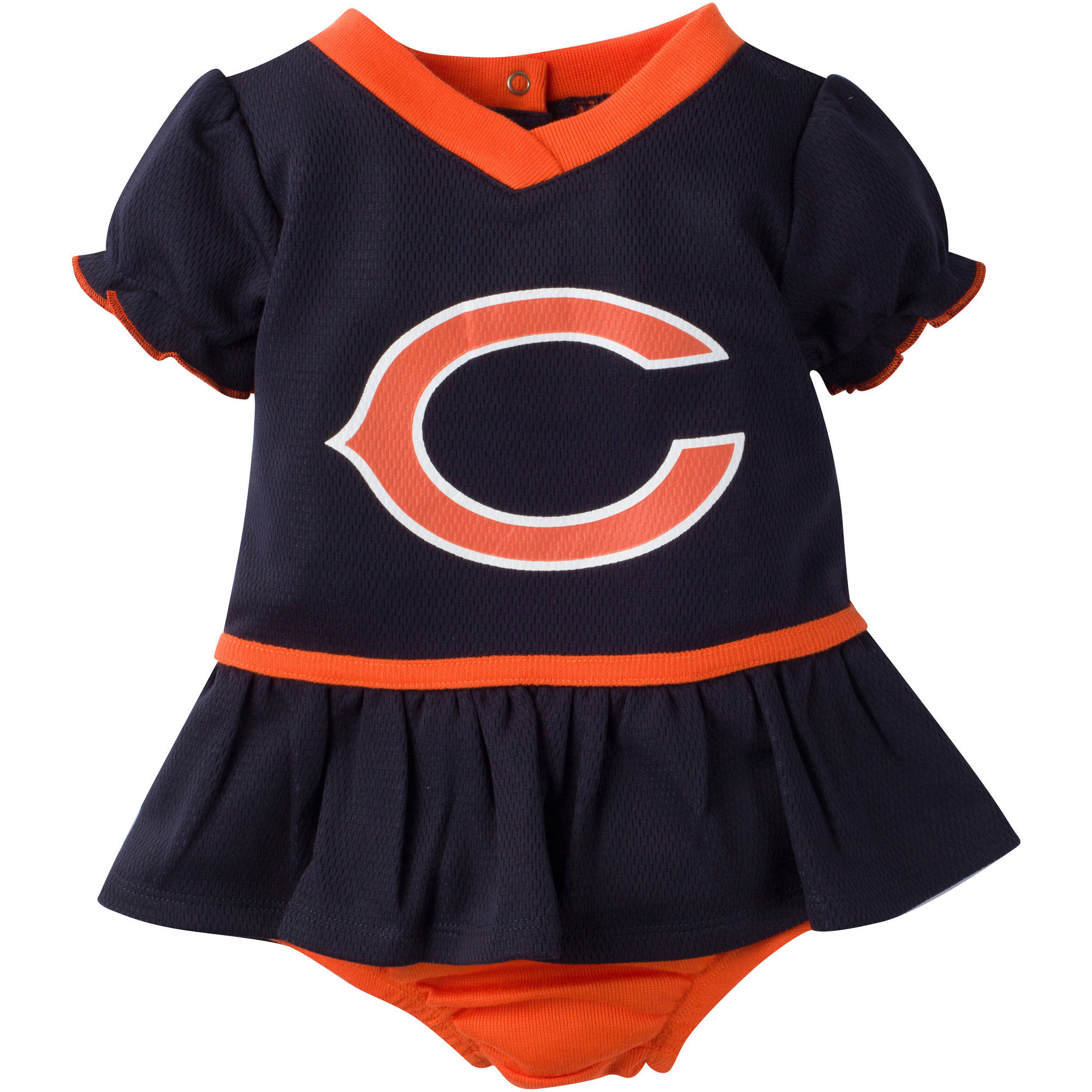 NFL Chicago Bears Baby Girls Mesh Dazzle Dress and Panty Set, 2-Piece