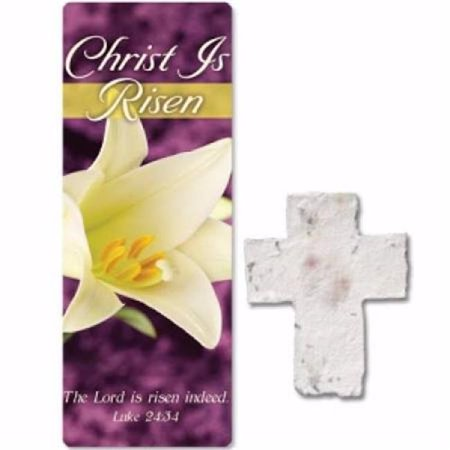 - Christian Tools of Affirmation 19073X Christ is Risen Plantable Seed Cross & Bookmark