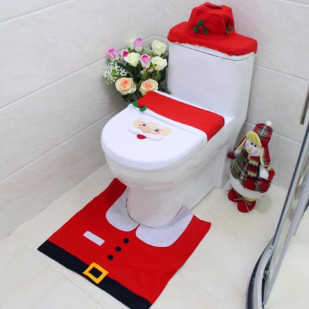 Christmas Decorations Elf Deer Santa Claus Toilet Seat Cover Ornament For Home