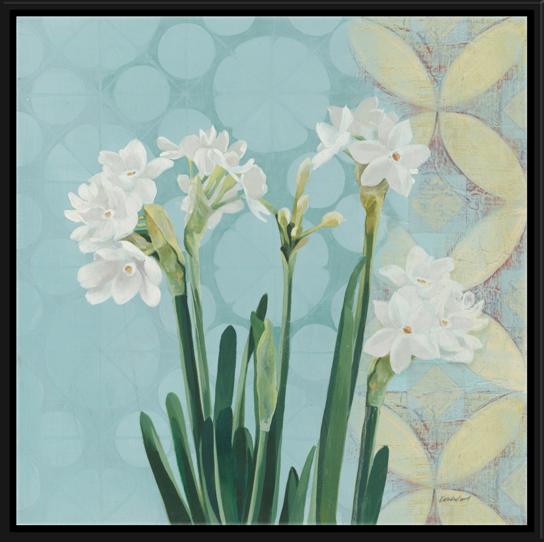 PTM Images Paperwhites on Blue I
