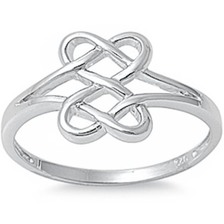 Plain Celtic Design .925 Sterling Silver Ring Sizes 3-15 - Angry Birds Halloween 3-15 Three Stars