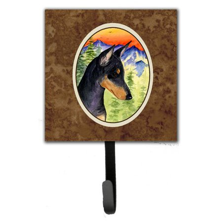Caroline's Treasures Manchester Terrier Leash Holder and Wall Hook