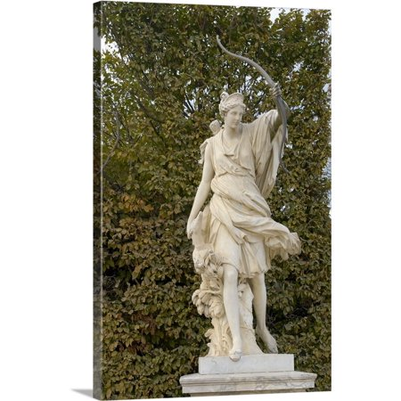 - Great BIG Canvas | Lisa S. Engelbrecht Premium Thick-Wrap Canvas entitled France, Versailles, marble statue in gardens