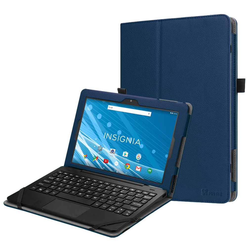 For Insignia Flex Hybrid 10.1 Case (NS-P10W8100/NS-P10A8100K), Fintie Slim Fit Premium Vegan Leather Stand Cover Navy