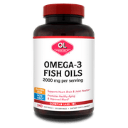 Olympian Labs Omega-3 Fish Oils Softgels, 2000 Mg, 240 Ct