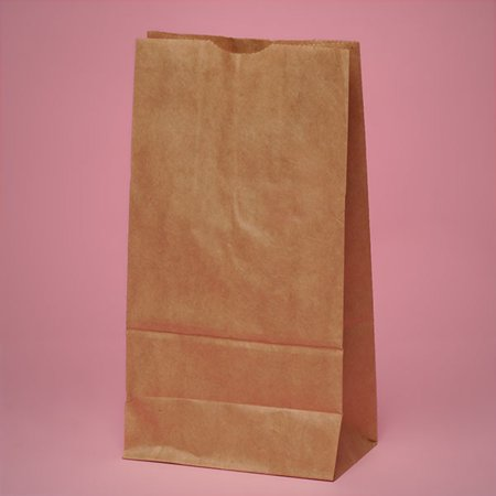 Xtra Large 7 x 3 x 15 inches Brown Kraft Paper Lunch Grocery Bags, 100 pack - Large Paper Bags