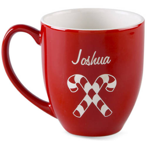 Personalized Candy Cane Bistro Mug
