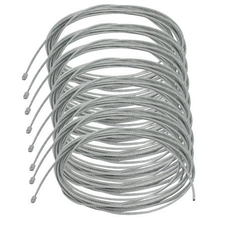Unique Bargains 8pcs 1.2mm Dia. 3 Meter Length Lighting Light Suspension Cable Kit Hanging Chain