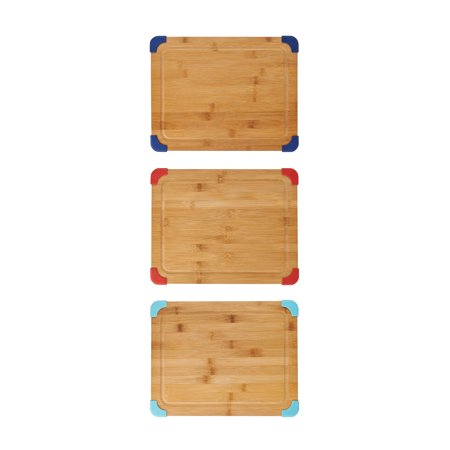 "Farberware 11"" x 14 "" Thick Nonslip Bamboo Cutting Board , 1 Board, Color Varies"