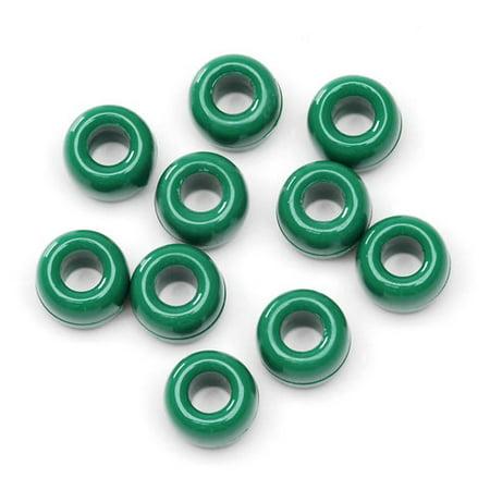 Darice Opaque Green Plastic Pony Beads, 9mm, 1000 -