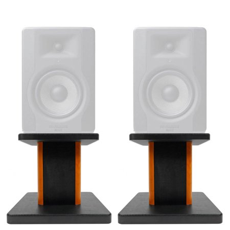 "Rockville 8"" Wood Studio Monitor Speaker Stands For M-Audio BX5 D3 (Best M-audio Studio Monitors)"