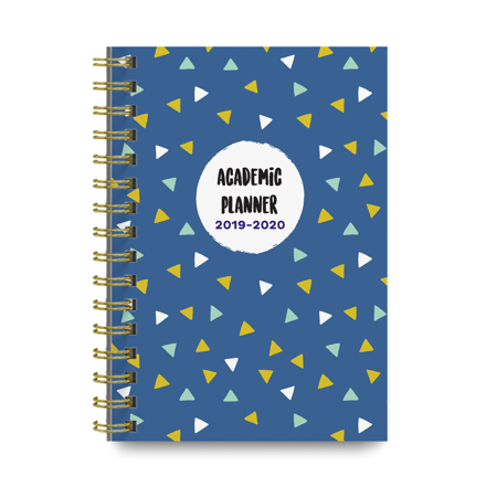 Triangles 2019-2020 Academic Monthly and Weekly Planner Cute College Agenda