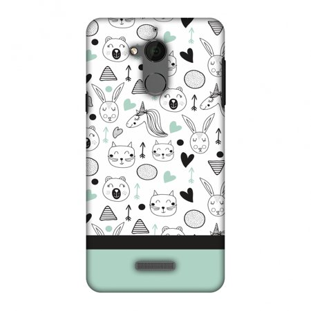 Coolpad Note 5 Case - Unicorns, Hard Plastic Back Cover  Slim Profile Cute  Printed Designer Snap on Case with Screen Cleaning Kit
