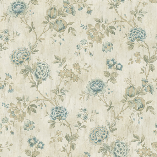 Brewster Home Fashions The Cottage Chrysanthemum 33' x 20.5'' Floral Wallpaper
