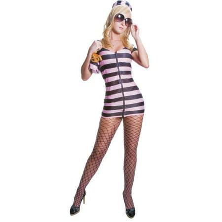 Morris Costumes UP335SM Princess in Prison Pink & Black Costume, - Mansfield Prison Halloween 2017