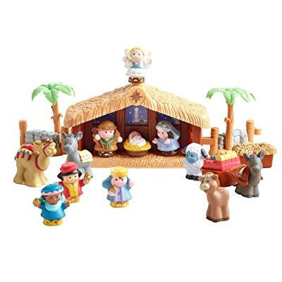 Fisher Price new little people christmas story nativity w...