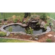 WATER GARDEN FOUTAIN KOI POND KIT LINER & PUMP 9' X 6' LINER & 5 Water Lilies
