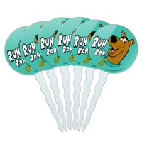 Scooby-Doo Ruh Roh Cupcake Picks Toppers Decoration Set of 6
