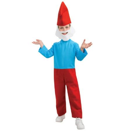 Papa Smurf The Smurfs Cartoon Child Boys Costume Blue Red (Cool 80's Cartoon Costumes)