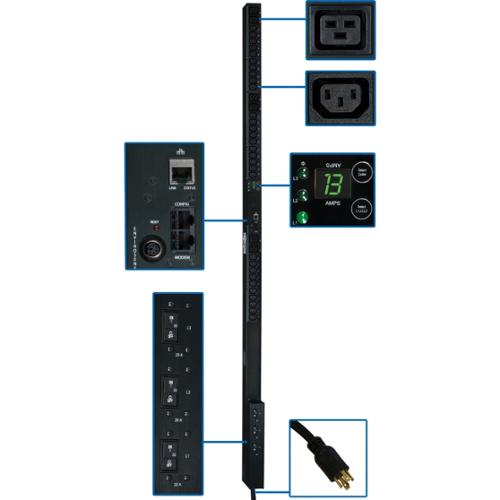 Tripp Lite 3-Phase Monitored 36-Outlet 8.6kW PDU