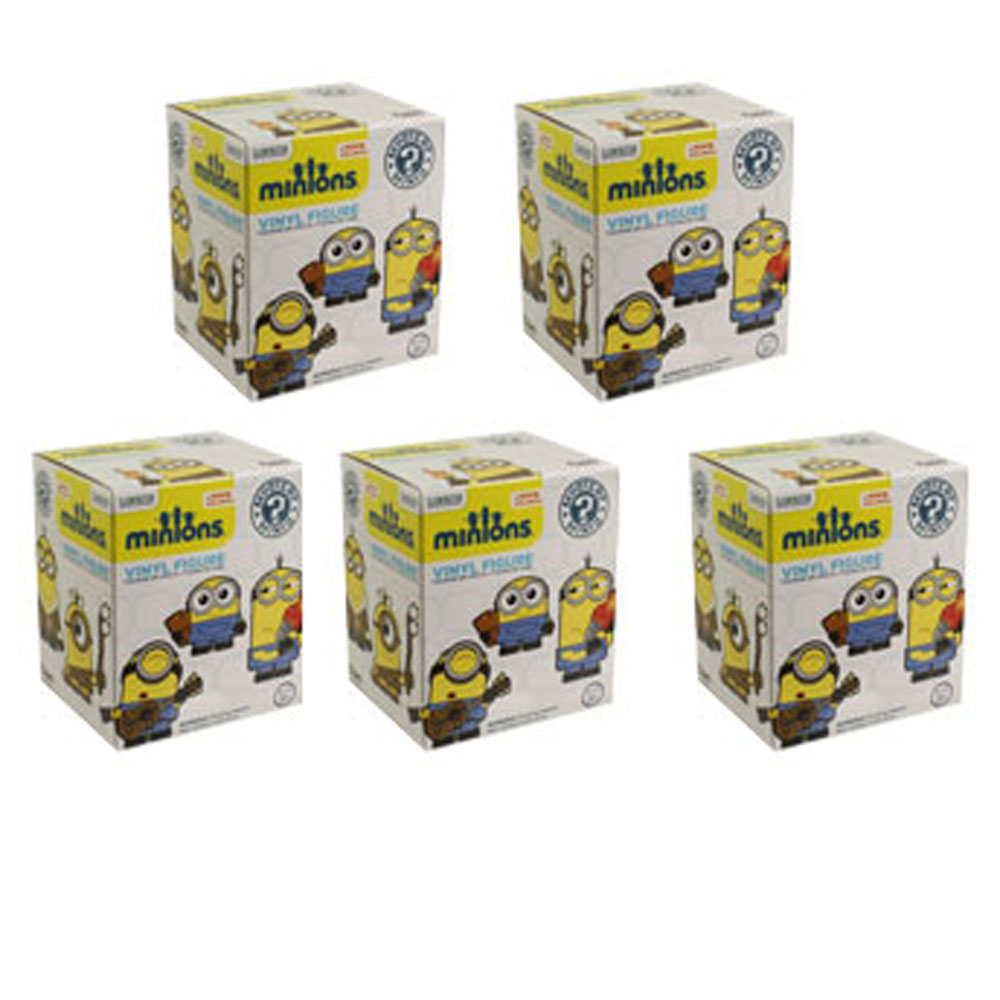 Funko Mystery Minis Vinyl Figure Minions Movie Blind Packs (5 Pack Lot) by Funko