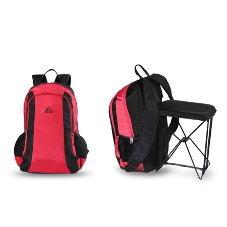 47L Camping Travel Backpack with Folding Chair Backpack and Stool Chair Combo Gear for Outdoor Hiking Fishing - image 4 de 7