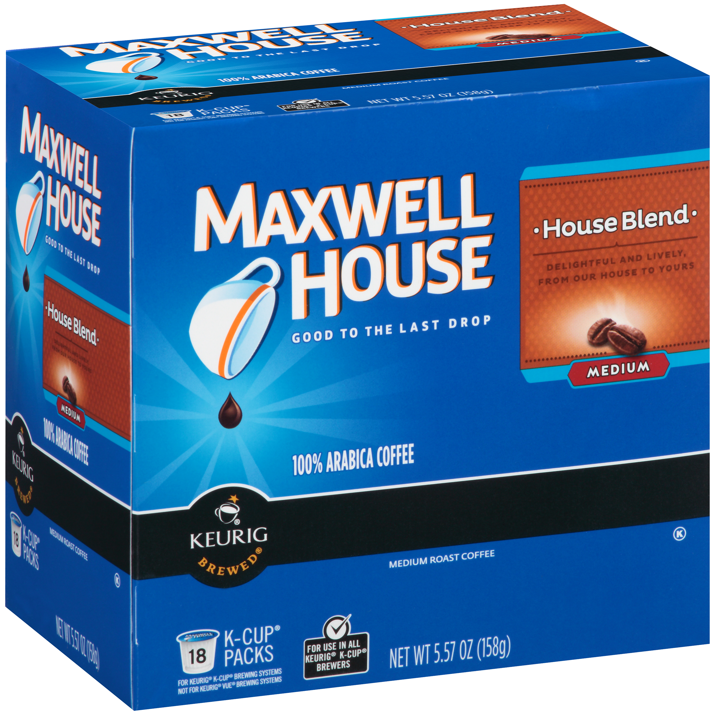 Maxwell House House Blend Coffee K-Cup® Packs 18 ct Box