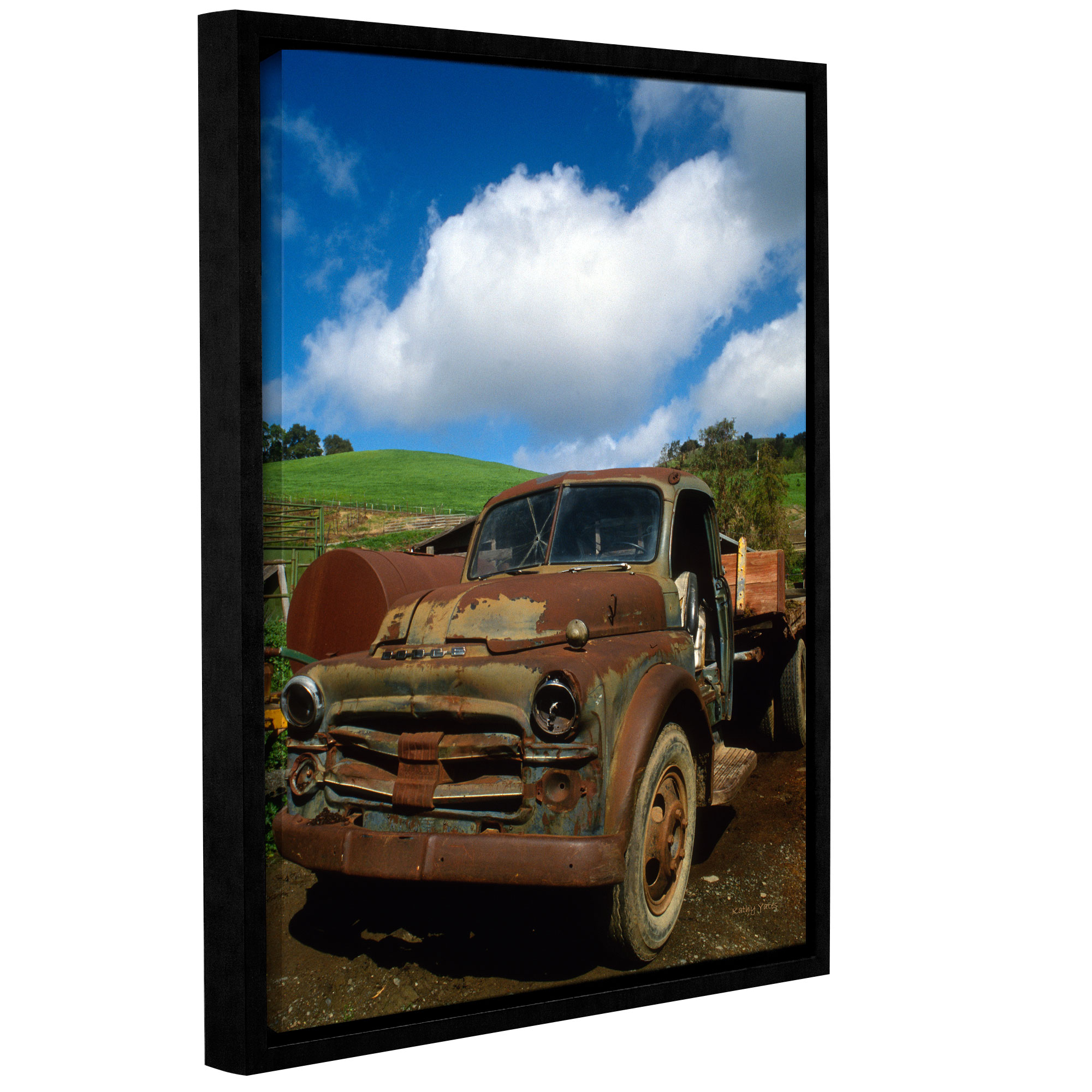 Old Truck' Gallery Wrapped Floater-framed Canvas Art Print