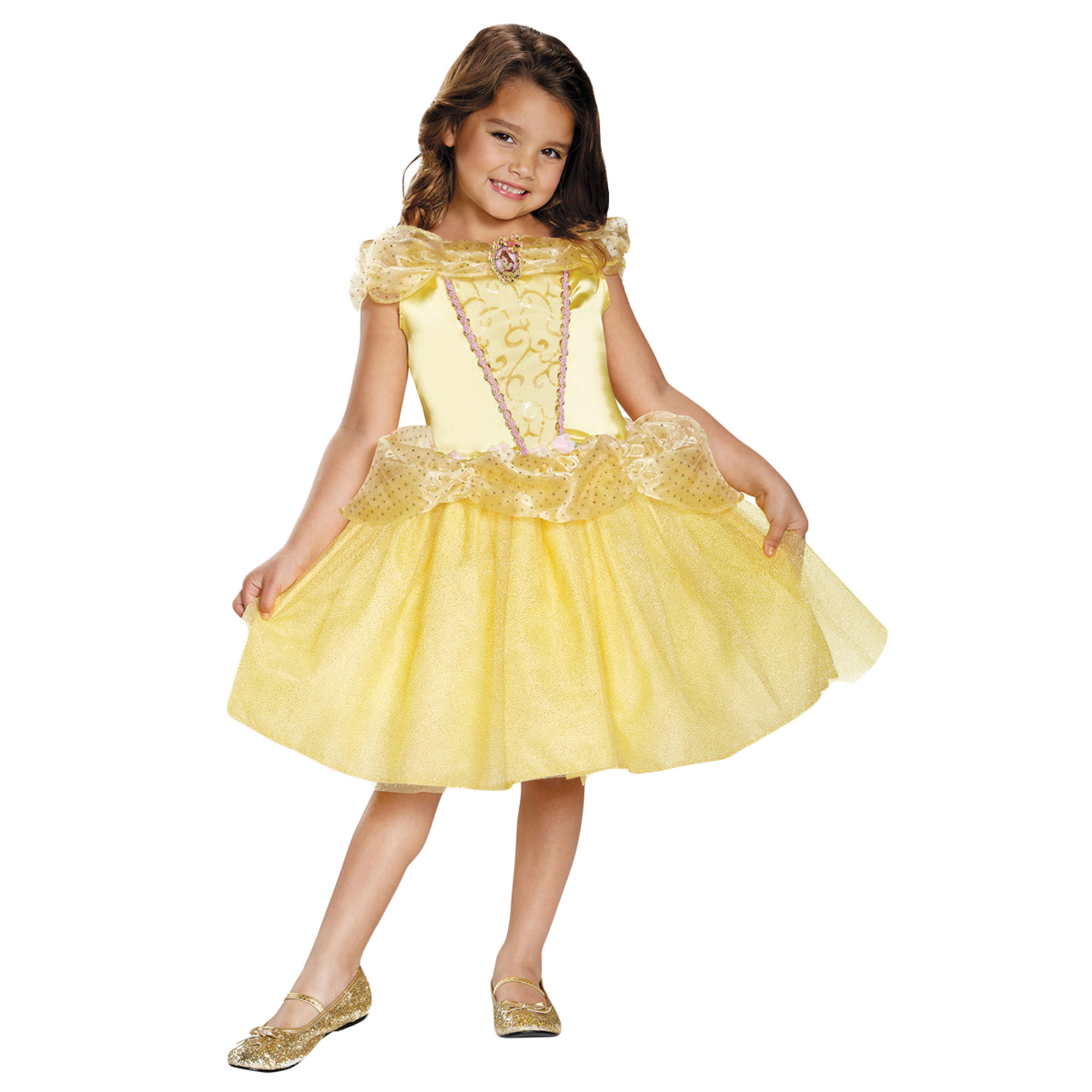 Morris Costumes Toddler Belle Polyester Classic Costume 3T-4T, Style DG98463M