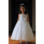 Toddler Girls White Size 3T Organza Tie Pageant Dress