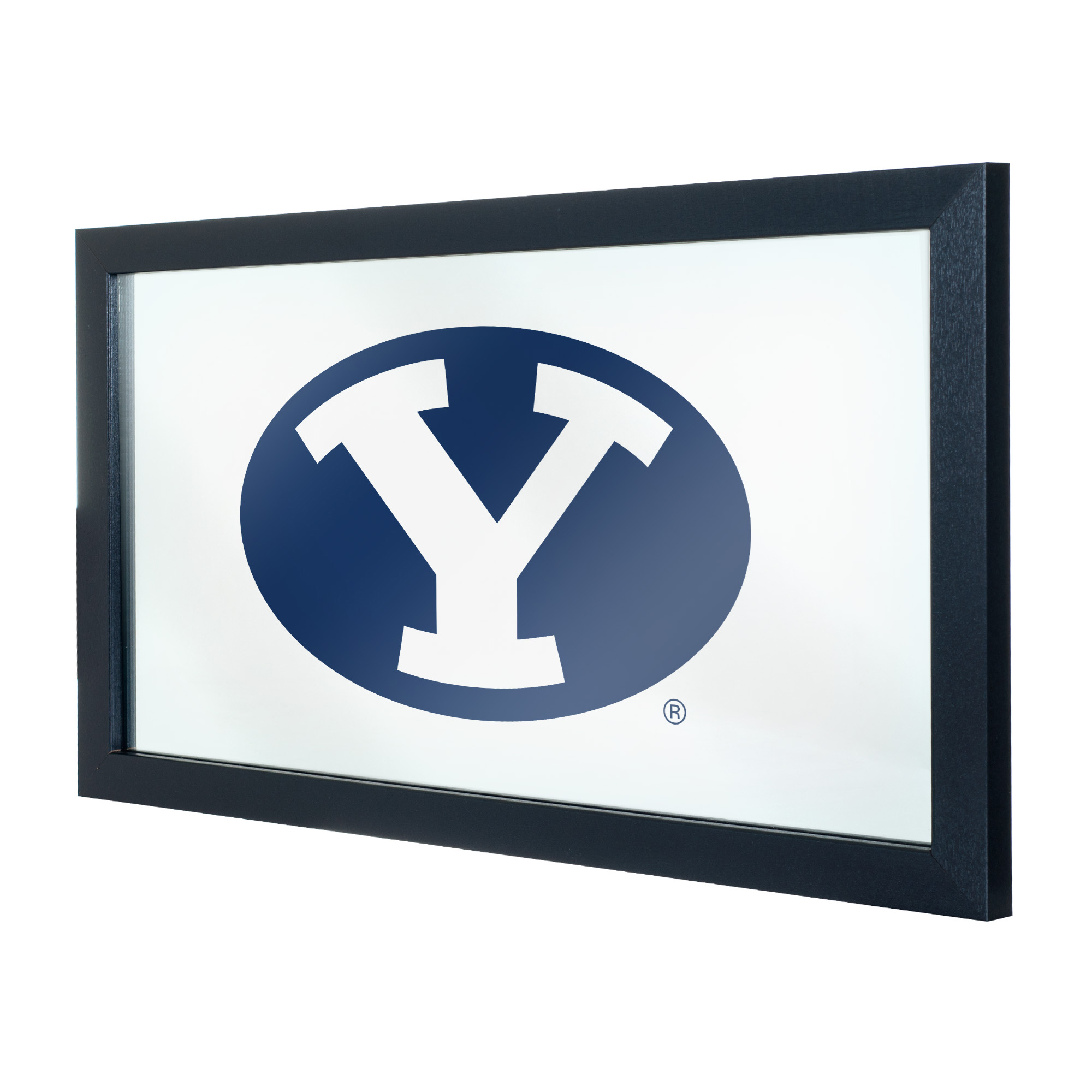 NCAA BYU Brigham Young University Framed Logo Mirror