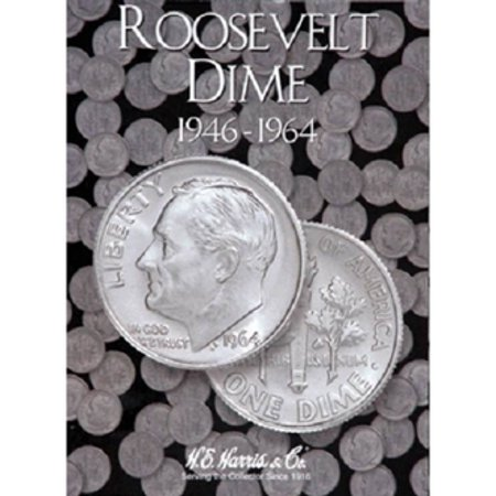 Roosevelt Dime #1 Coin Folder, 1946-1964, by H.E. -
