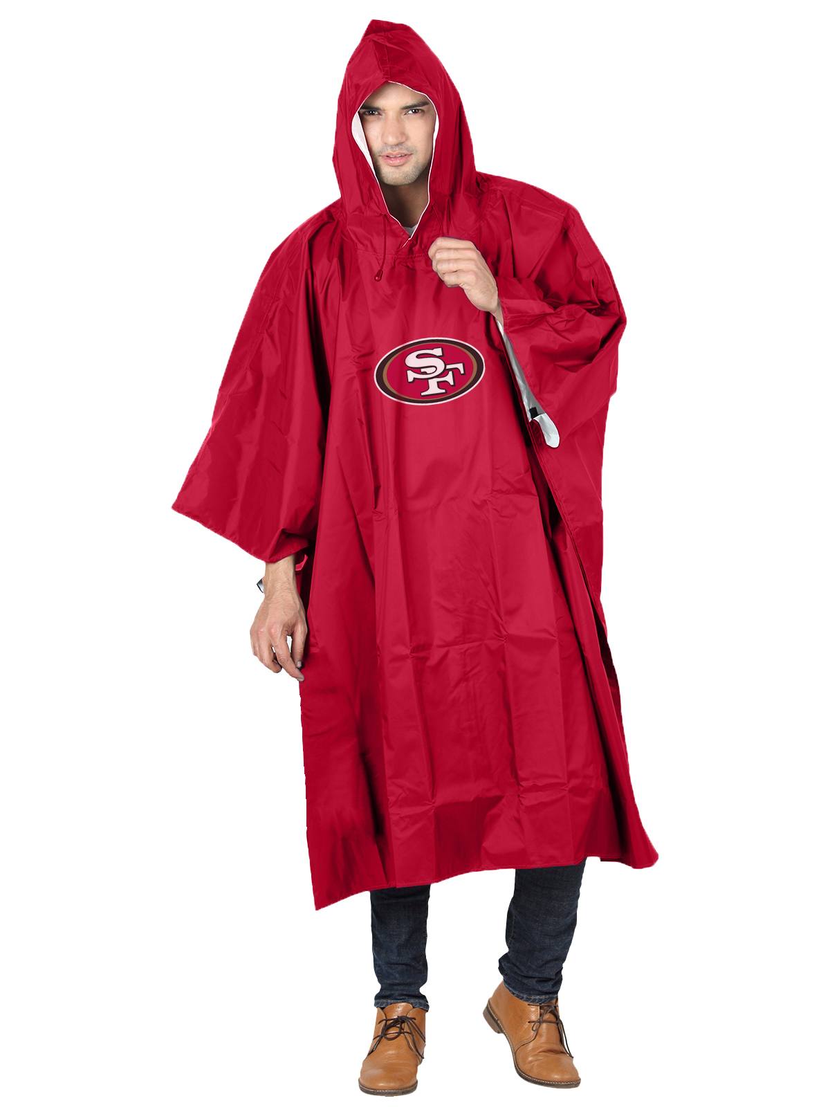 NFL San Francisco 49ers �Deluxe� 44�H x 49�W (Adult Size) Poncho by The Northwest Company