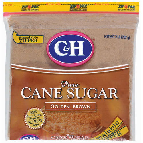 C&H: Pure Cane Golden Brown Sugar, 32 Oz