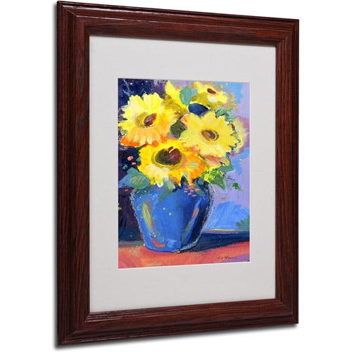 Trademark Art 'Sunflowers II' Framed Matted Art by Sheila Golden