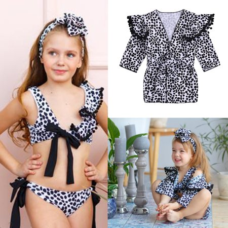 741400efd4bb7 Kid Girls Swimsuit Swimming Tropical Bikini Set Baby Girl Toddler Ruffle  Falbala Swimwear Bathing Suits Pool Party Swimsuit Cover-up Beach Swimsuit  Coverup ...