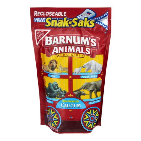 Nabisco Snak-Saks Barnum's Animals Crackers, 8.0 OZ