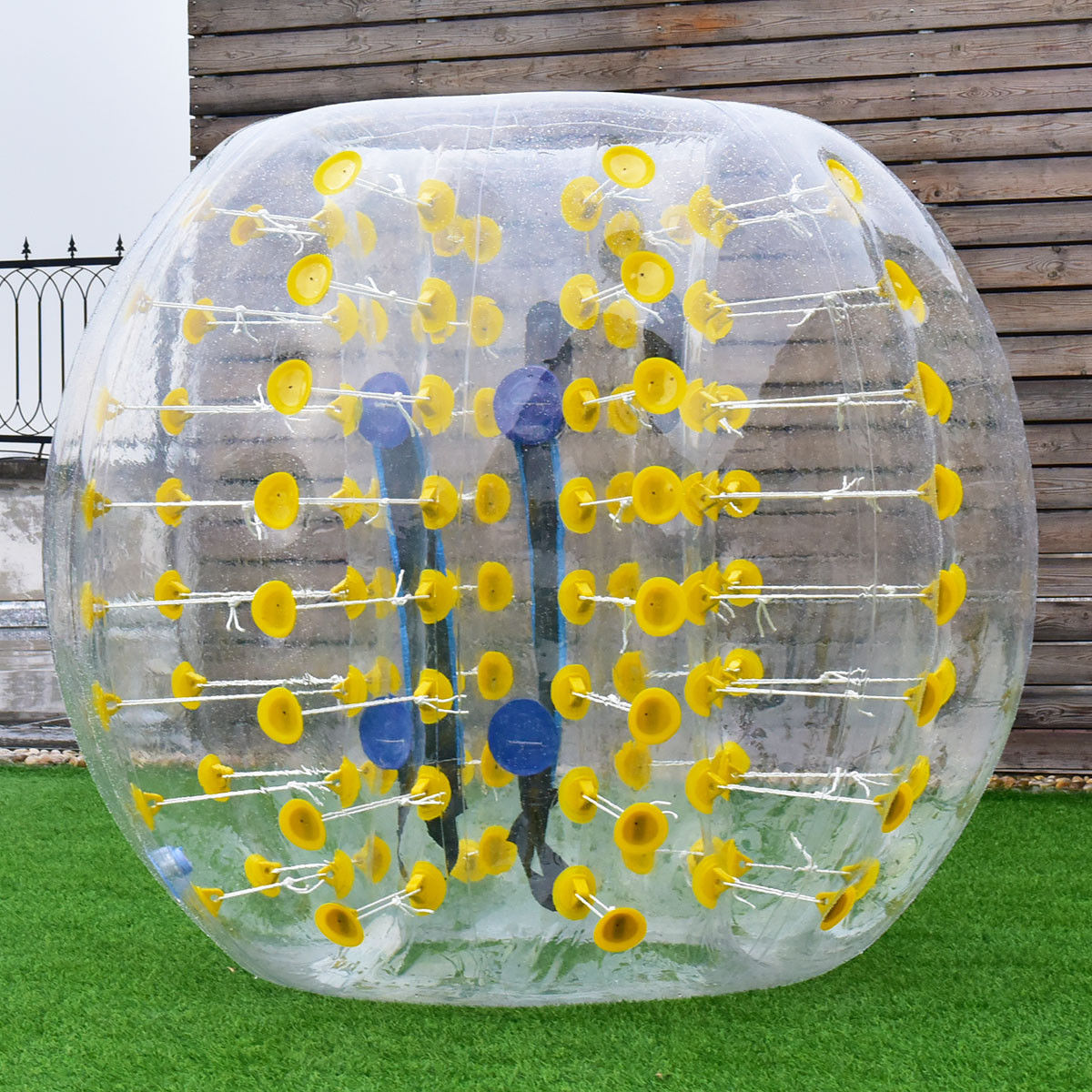 Costway 1 PC 1.5M Inflatable Bumper Ball Body Zorbing Ball Zorb Bubble Soccer/Football